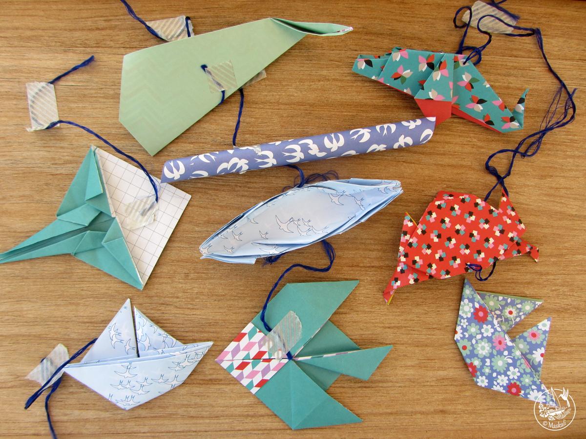 Origamis marins