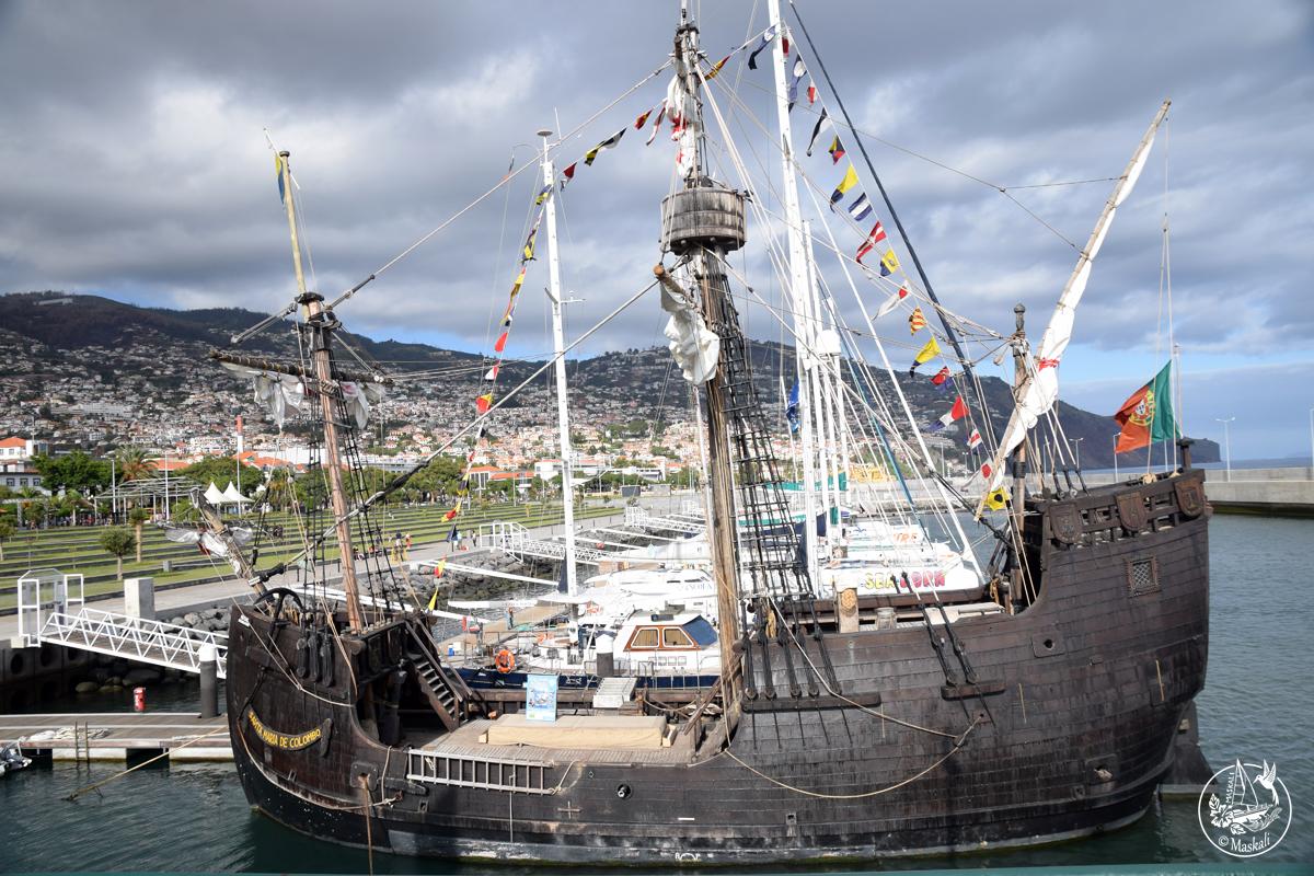 Une réplique de la caravelle de Christophe Colomb à Funchal.
