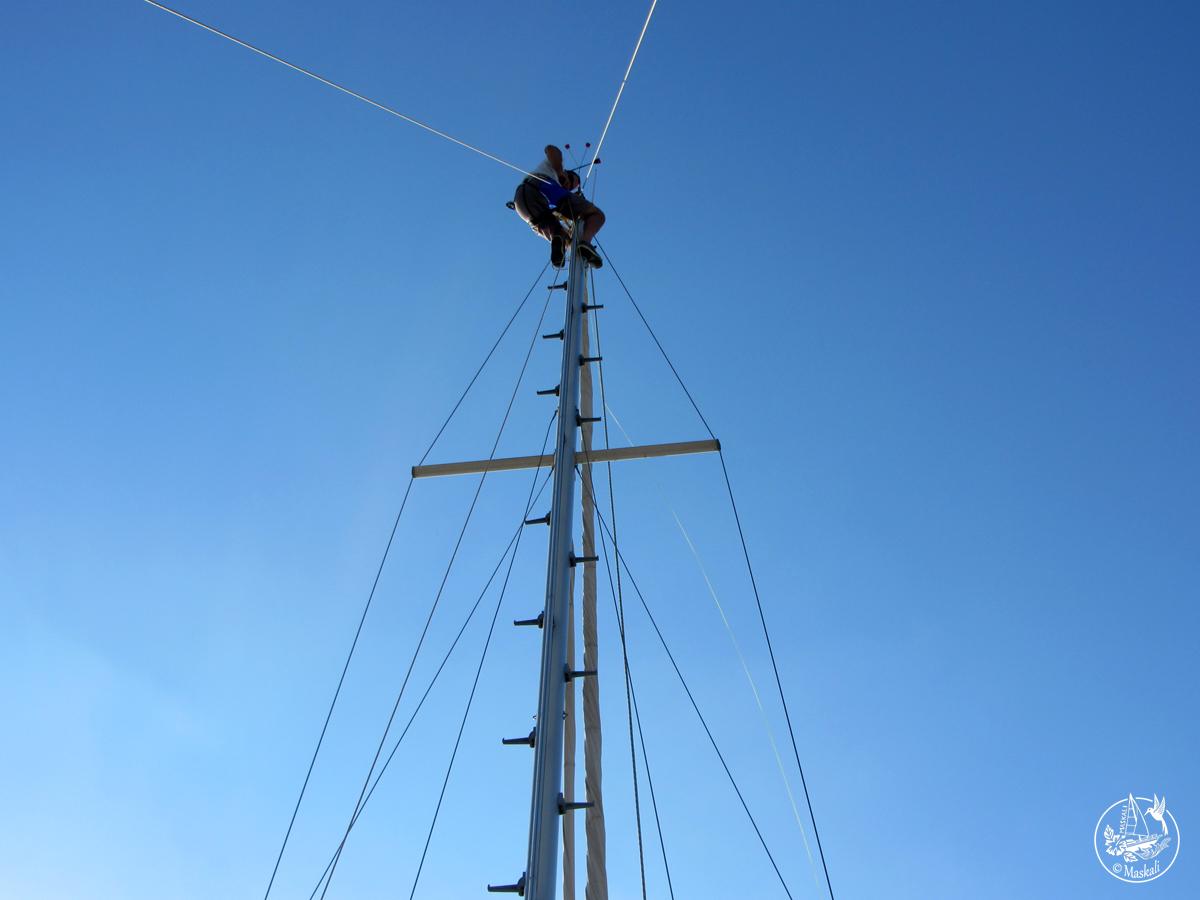 En haut du mât