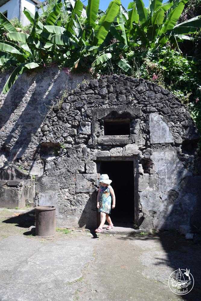 Le cachot de Cyparis, seul survivant de l'éruption de la montagne Pelée en 1903 qui a fait 28000 morts.